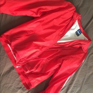 Adidas XL- wind breaker Red jacket